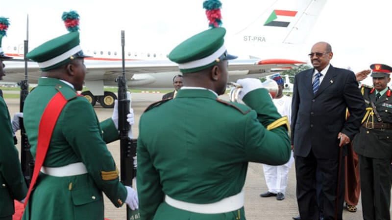 Bashir arrived in Abuja on Sunday to take part in an African Union summit on HIV, TB and malaria [Reuters]