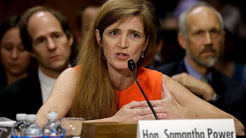 Samantha Power testified before the Senate Foreign Relations Committee on Wednesday [AFP]