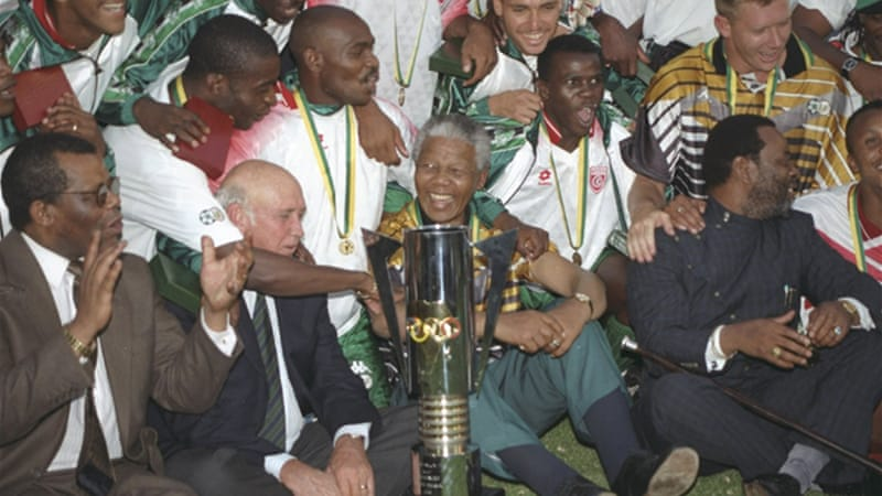 Mandela's appearance at the Africa Cup of Nations in 1996 is a part of sporting history in South Africa [GETTY]