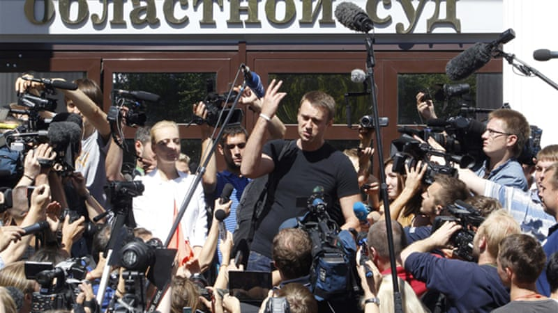 After the ruling, Navalny thanked supporters, thousands of whom staged a protest on Thursday [Reuters]