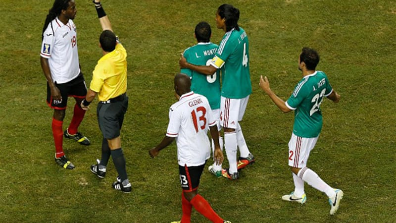Mexico edged through with a 1-0 victory over Trinidad and Tobago [AFP]