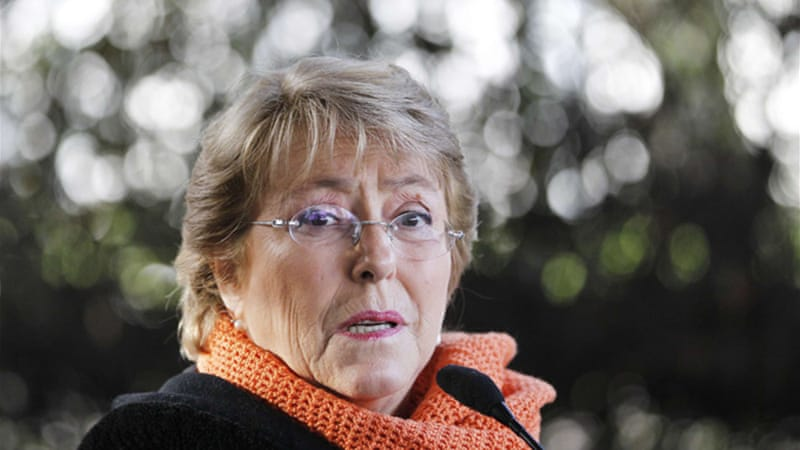 Michelle Bachelet, who was Chile's first female president, is tipped to beat Matthei in the November poll [Reuters]