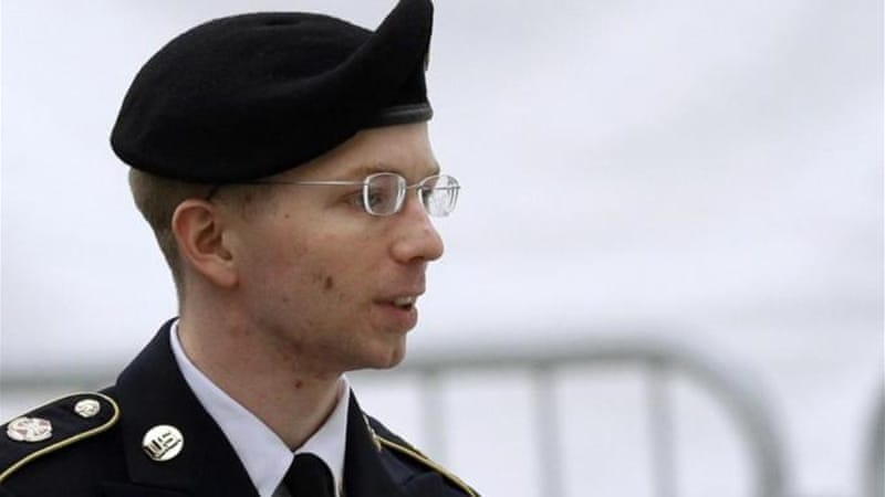 Manning has acknowledged giving WikiLeaks hundreds of thousands of battlefield reports [Reuters]