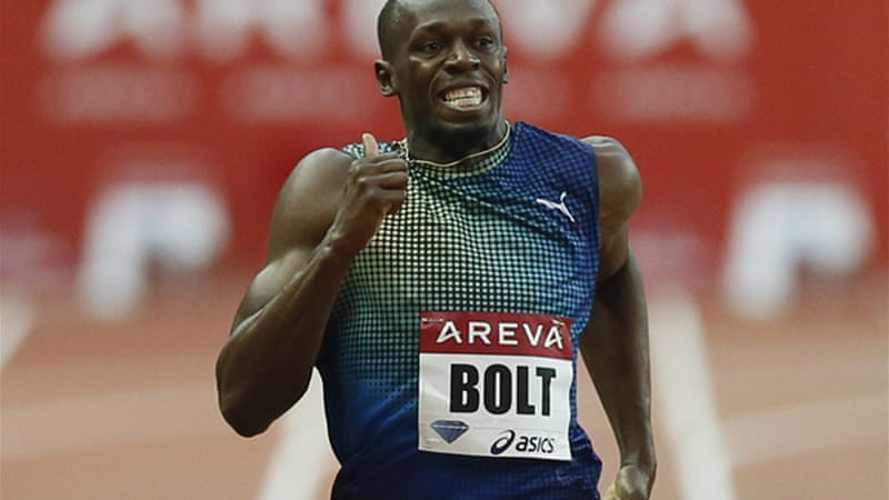 Bolt has the pace, but does he have the stamina to win a 600m race? [EPA]