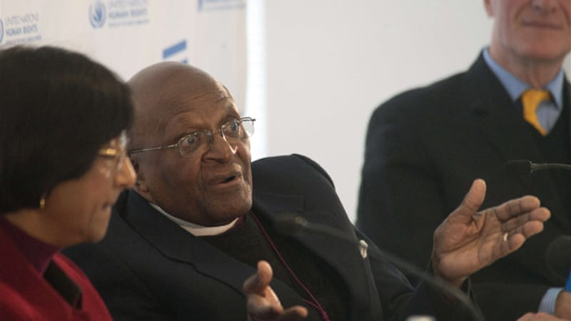 "Tutu told a UN gay equality meeting he is as ""passionate about this campaign as I ever was about apartheid"" [AFP]"