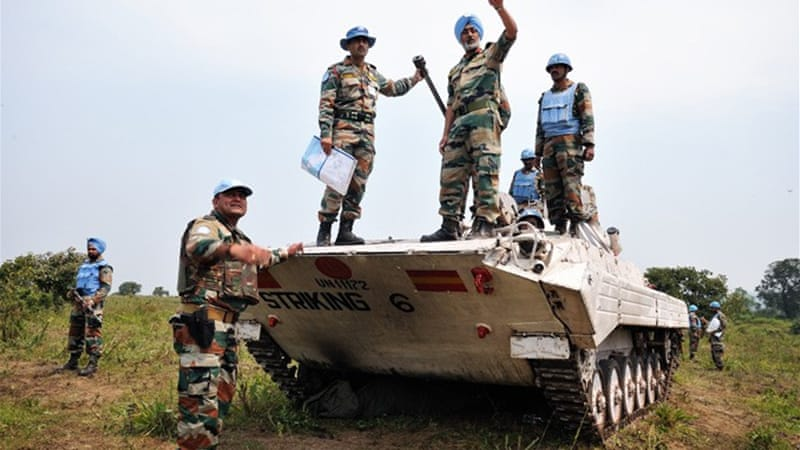 MONUSCO, the UN mission in DR Congo, now has the mandate to fight rebels when they threaten civilians [AFP]