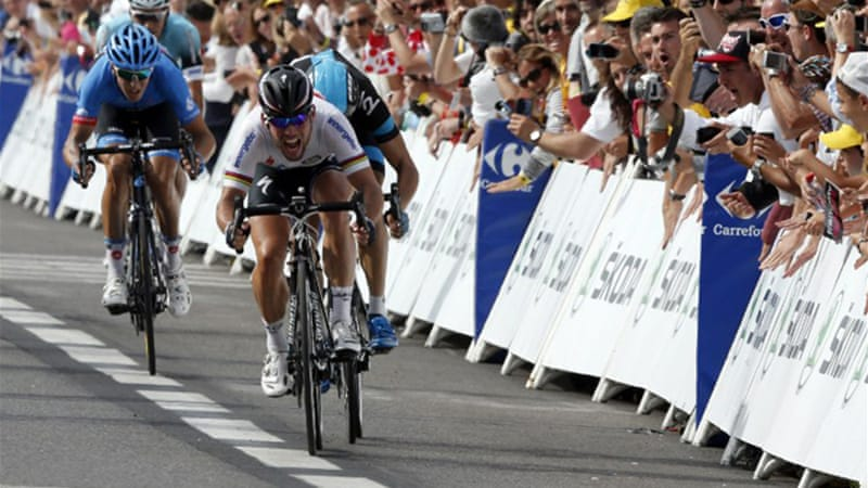 Cavendish timed his sprint perfectly to hold off Norwegian Edvald Boasson Hagen [AFP]