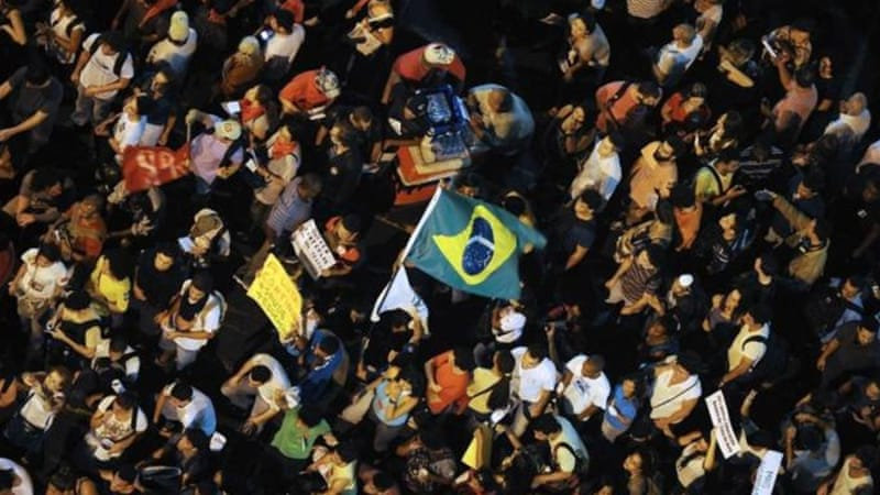 Brazil recently witnessed huge protests against government waste and corruption in sporting organisations [AFP]