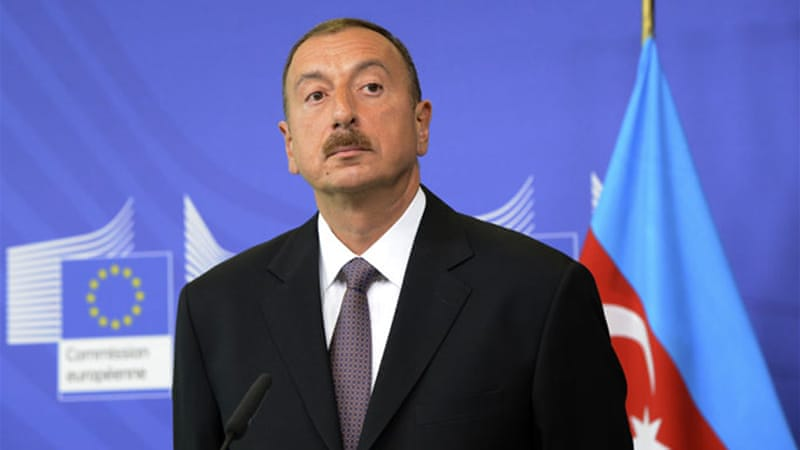 Azerbaijan's president, Ilham Aliyev, has been clamping down on independent media outlets [AFP/Getty]