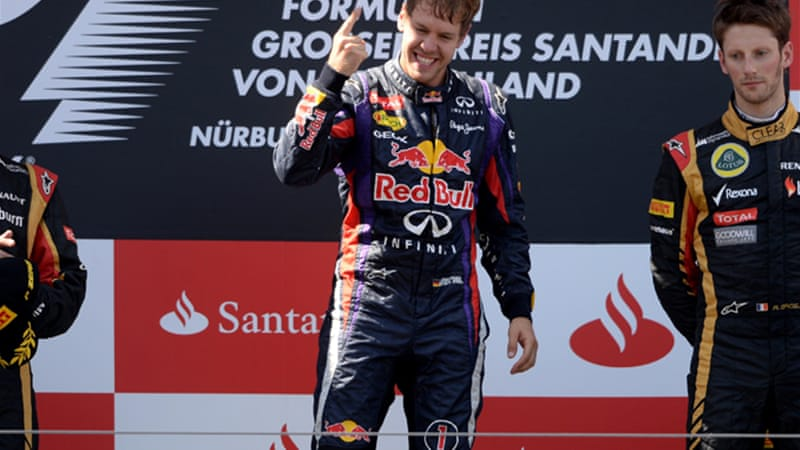 Sebastian Vettel's win was his fourth this year and the 30th of his career [AFP]