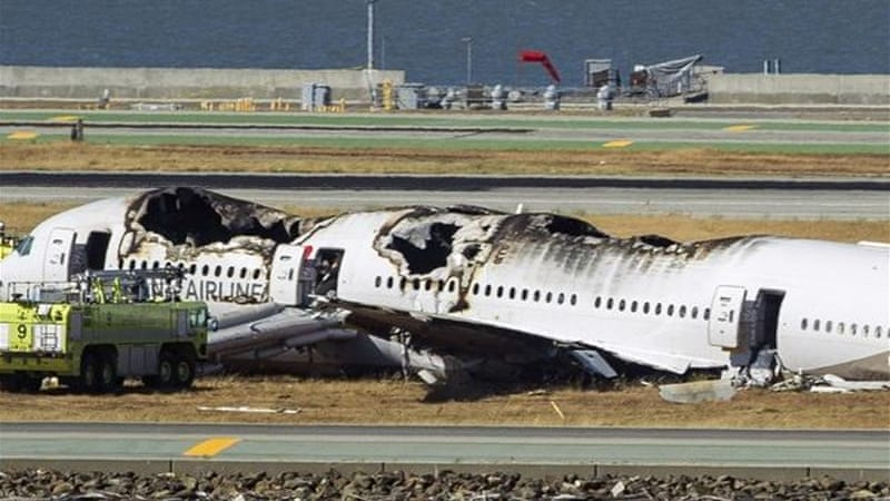 Passengers remained in their seats until a fire erupted [AP]