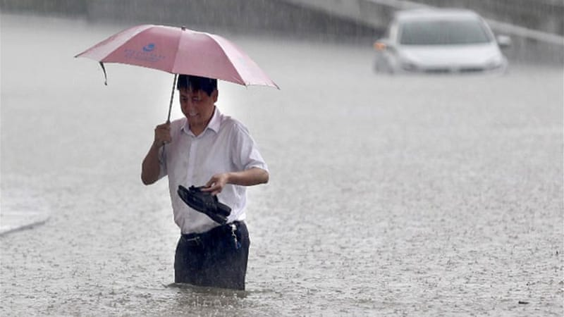 The typhoon season in the western Pacific is expected to produce its first typhoon within the next day or so [AFP]