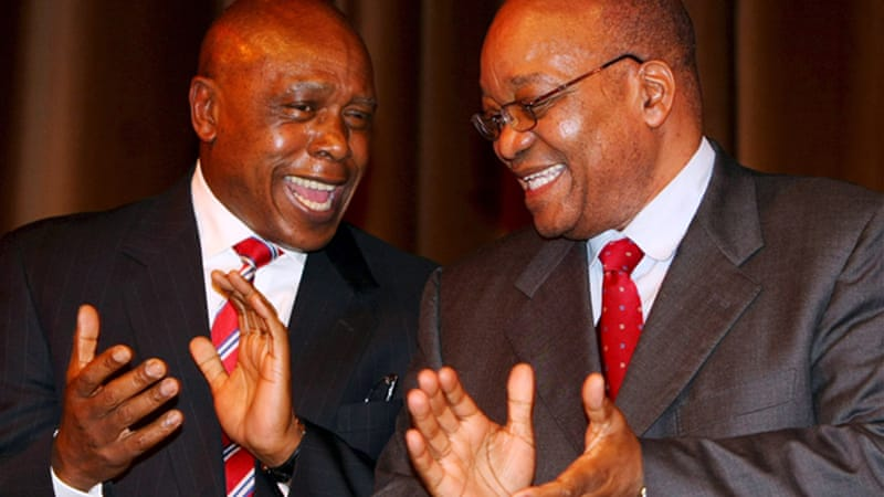 Sexwale, left, was a cabinet minister in  Zuma's government until July's reshuffle [EPA]