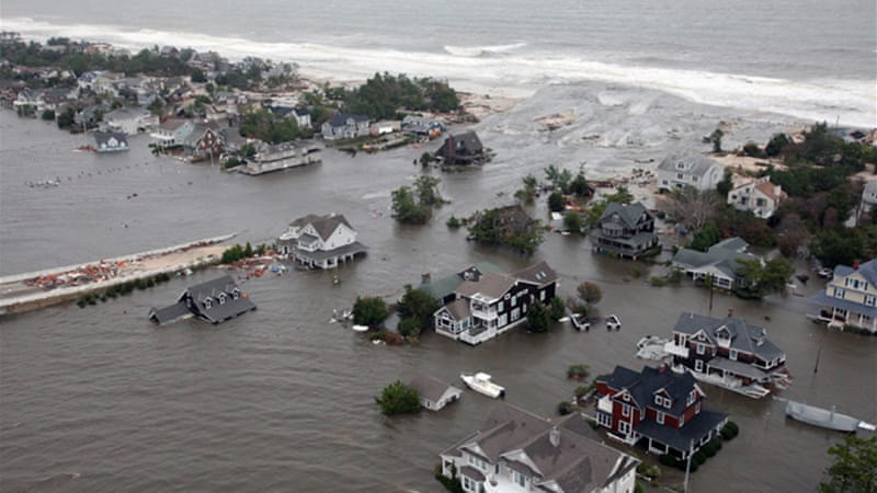 Environmental disasters, such as Hurricane Sandy, typically increase a countries GDP [AP]