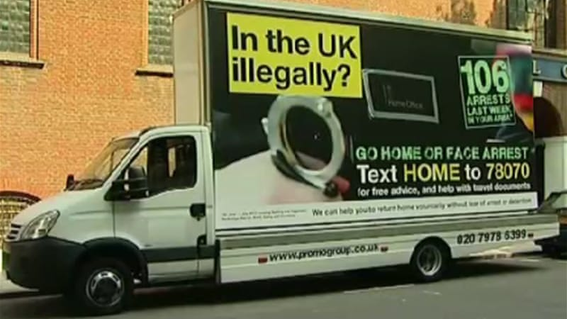 Cameron's government has already faced a backlash for its anti-immigration adverts [Al Jazeera]
