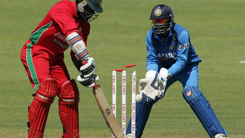 Hosts Zimbabwe were bowled out for 144 in 42.4 overs [AFP]