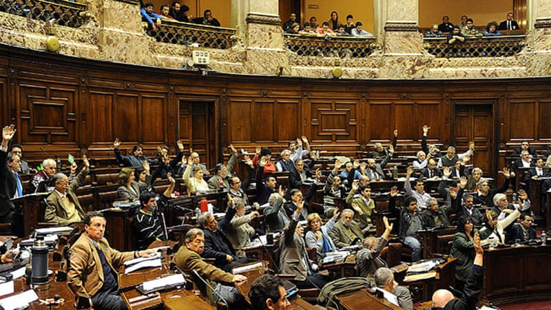 Uruguay's lower house voted 50 out of 96 in favour of the controversial bill [AFP]