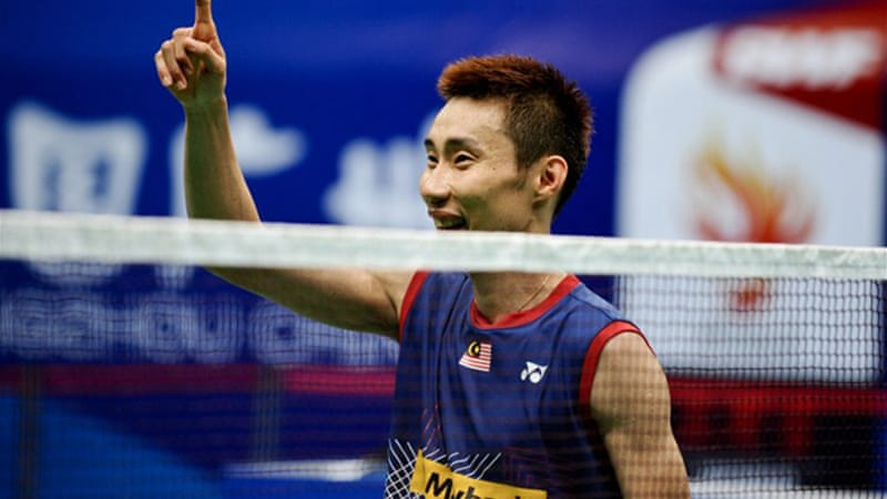 Tough challenge: Lee has yet to win a world badminton title and has lost to Lin in the last two Olympic finals [AFP]