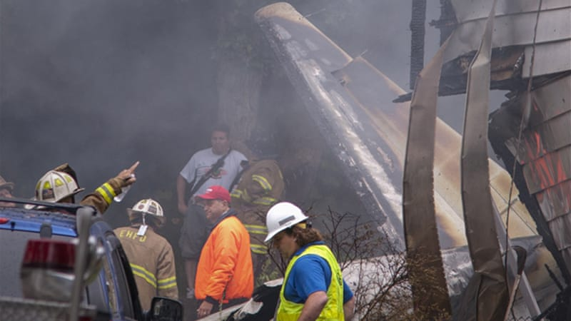 Small plane crashes into houses in US state | News | Al Jazeera