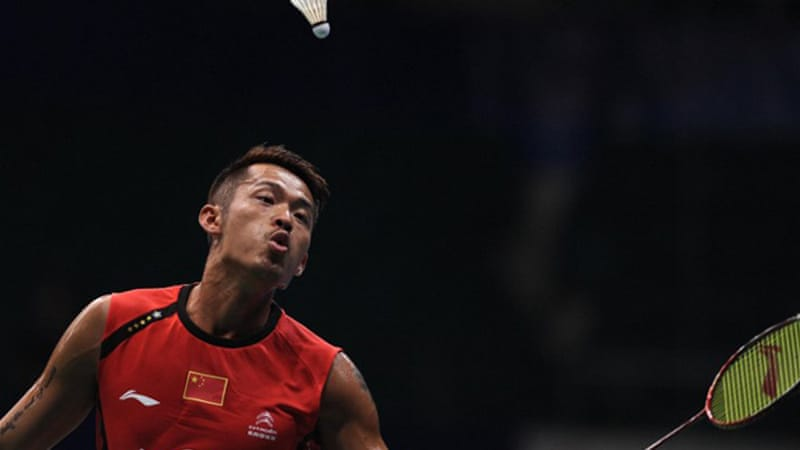 Home crowd favourite Lin Dan secured his fifth world title after Lee retired injured [AFP]