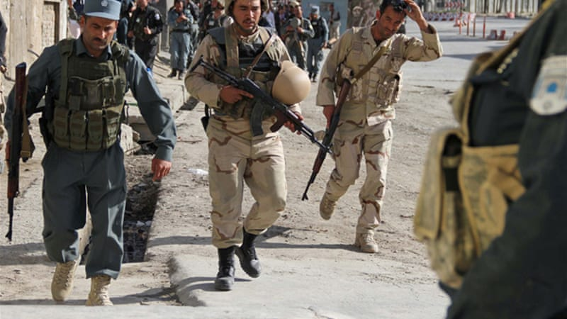 The US handed over security responsibility to Afghan security forces  in Paktia this year [EPA]