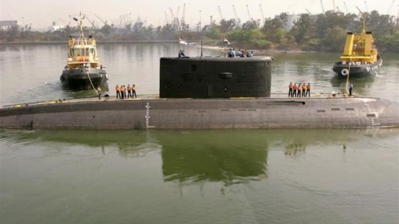 In August last year 18 naval crew were killed after Russian-built INS Sindhurakshak sank following fire [Reuters]