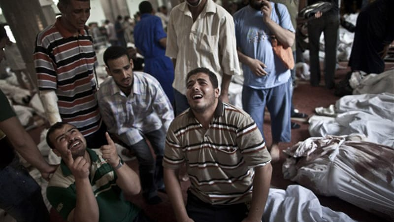 Egypt's health ministry says at least 578 people were killed after the military stormed pro-Morsi sit-ins [AFP]