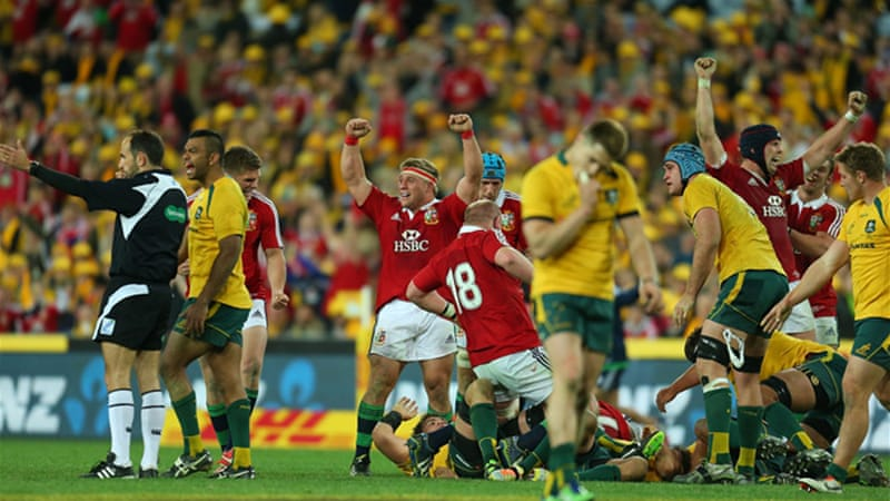 Australia suffered humiliating 41-16 defeat to the British Lions in their Test decider in Sydney [GALLO/GETTY]