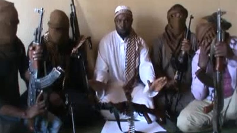 "Boko Haram's leader Abubaker Shekau criticised abducted schoolgirls for being taught ""western education"" [AFP]"