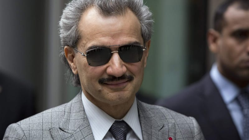 Prince Alwaleed said he had repeatedly warned Tareq al-Suwaidan against political affiliation. [Reuters]