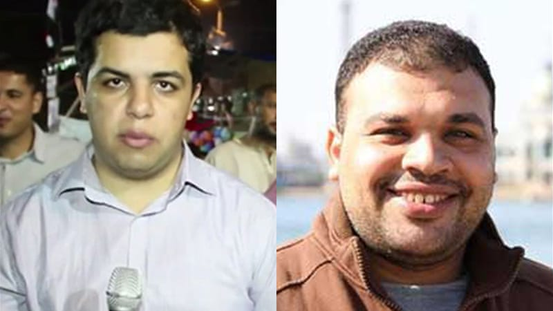 Shami, left, was detained last week, and Badr has been held since last month