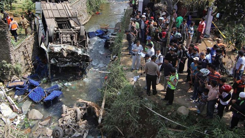 Road accidents are common in Indonesia due to poor safety standards and infrastructure [AFP]