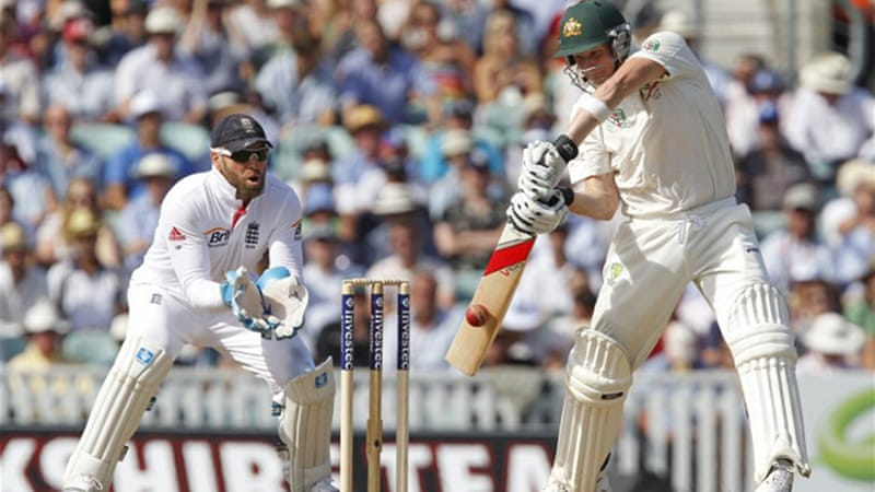 A maiden Test century from Steven Smith gave Australia the initiative on day two [AFP]