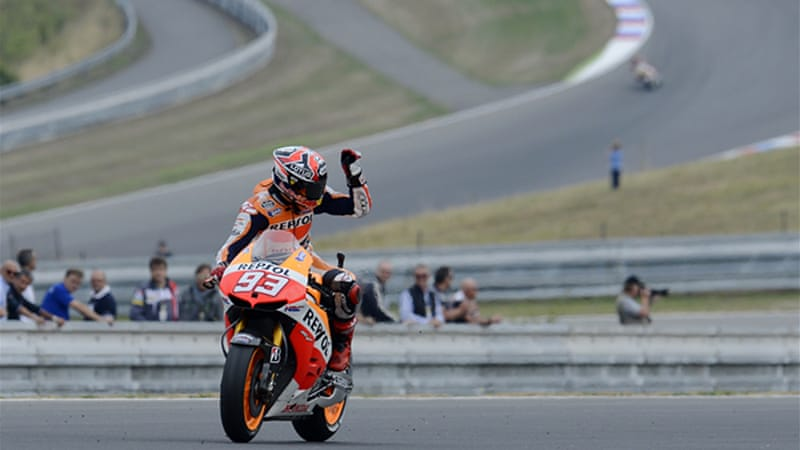 Marquez became the youngest rider to claim four consecutive races [EPA]