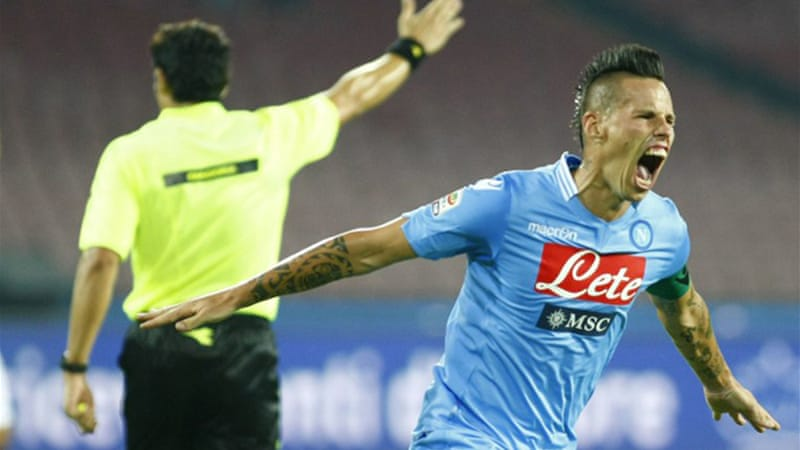 Slovakia forward Marek Hamsik scored twice for Napoli [AFP]