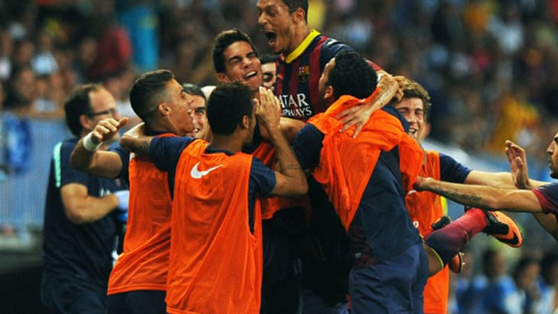 Formidable: Barcelona have made their best ever start to a Spanish campaign in 82 seasons [AFP]