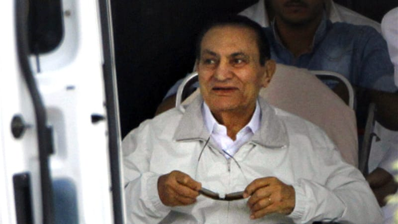 Mubarak, 85, and his sons are accused of taking more than $14.37m originally allocated for presidential palaces [AP]
