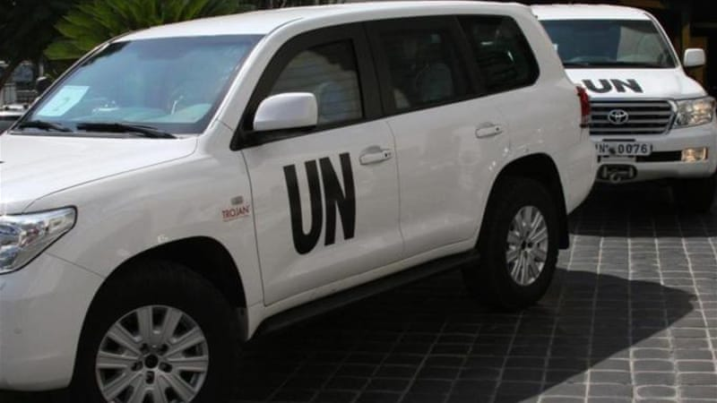"While the Western capitals discuss potential military intervention options in Syria, UN inspectors are heading to the site of the alleged ""chemical attack"" [AP]"