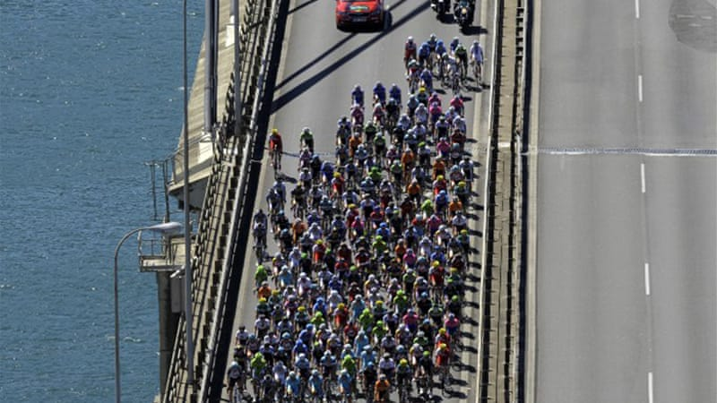 Stage three was a 107-mile ride from Vigo to Vilagarcia, a windy race along the northwestern coast [AFP]