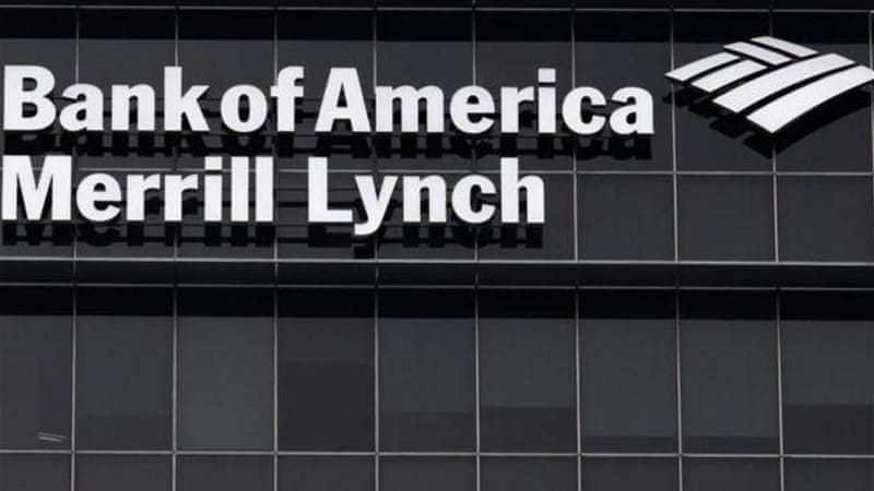 A Bank of America Merrill Lynch sign is seen on a building that houses its offices in Singapore [Reuters]