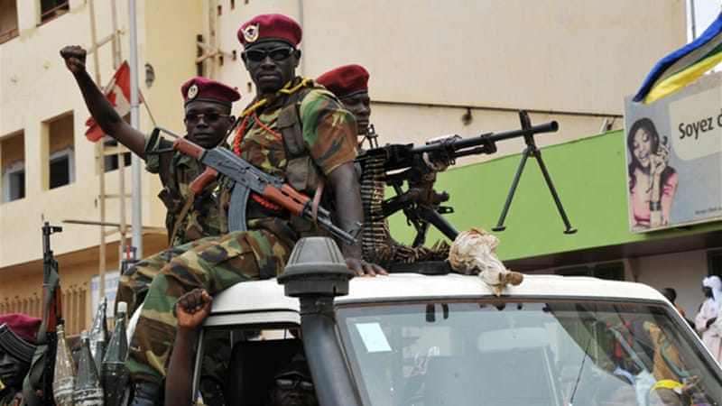 Seleka militia members, who overthrew the government in March, have now been banned from Bangui [AFP]