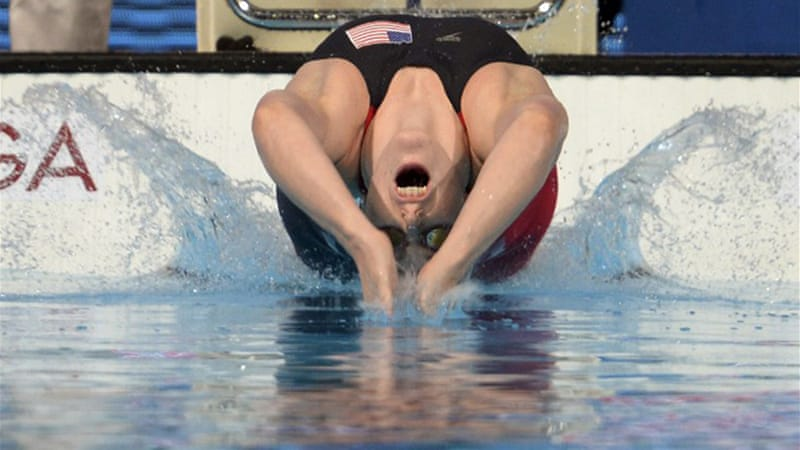Franklin has already secured gold in the 100 backstroke, 200 freestyle and the 4x100 and 4x200 freestyle relays [AFP]