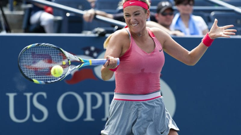 Victoria Azarenka dropped her first set of the tournament but recovered to book her last-16 spot [AFP]