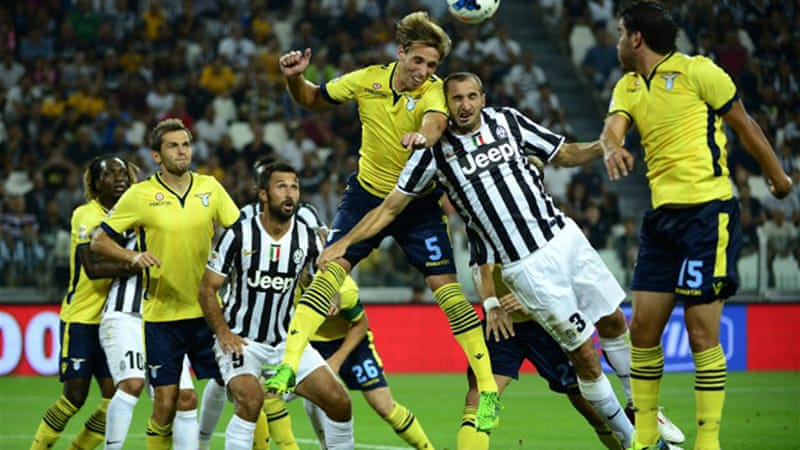 Lazio were looking to avenge their SuperCup loss to Juventus, but were overpowered by the Turin giants [AFP]