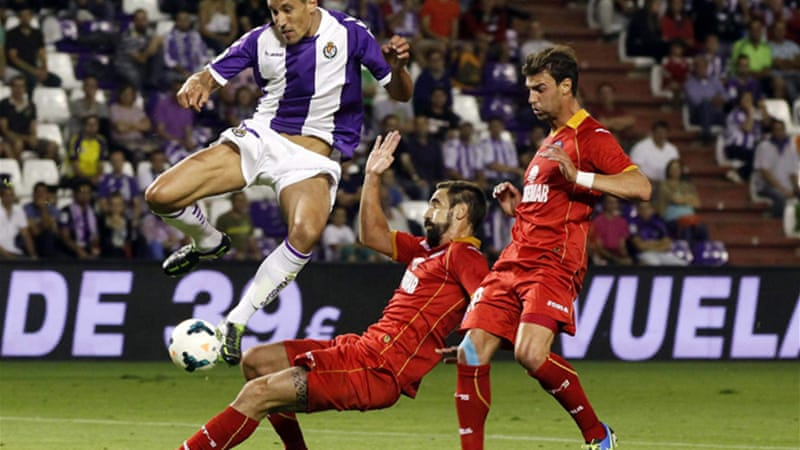 Valladolid overpowered Getafe to claim their first points of the season [EPA]