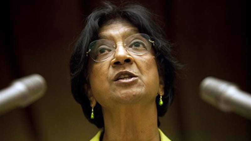 Navi Pillay condemned recent attacks by rebels while trying to take over Khan al-Assal town in Aleppo province [AP]