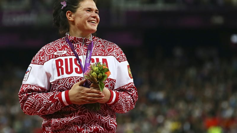Russia's Olympic discus silver medallist Daria Pishchalnikova has been found guilty of doping [EPA]