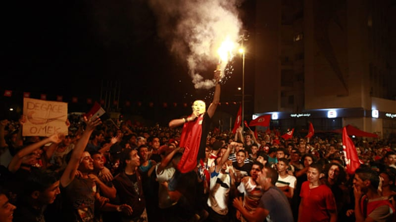 Tunisia has been witnessing protests by secular parties against the ruling Ennahda [Reuters]