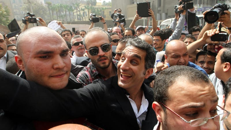 The highest-profile case involved the popular comedian Bassem Youssef [EPA]