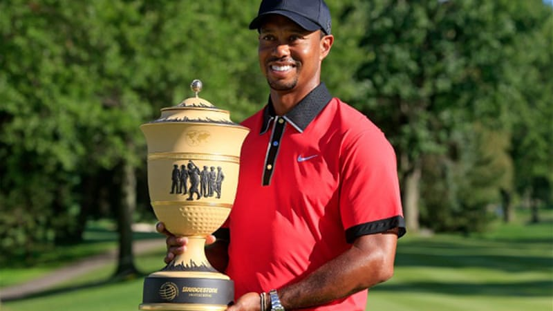 Woods' triumph at Firestone Country Club on Sunday suggests the world number one is in top form [AFP]